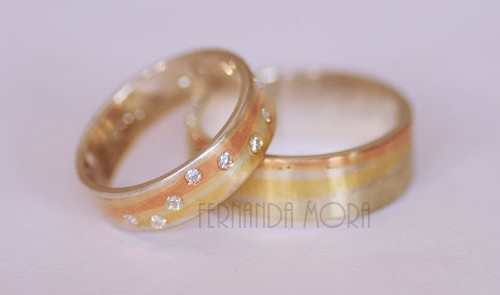 Argollas de matrimonio y diamantes. AM16